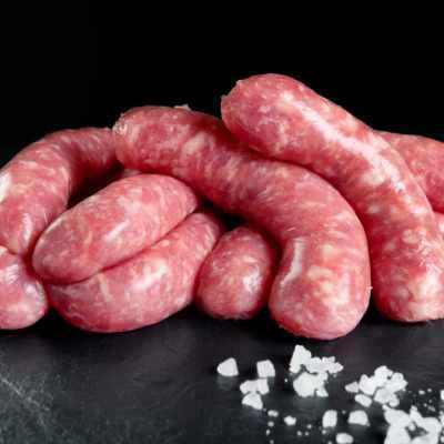 Salsitxes de polastre, Salsitxes de pollastre amb julivert - Pagès de Rofes
